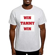 WIN TAMMY WIN Ash Grey T-Shirt