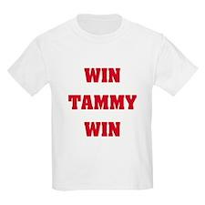 WIN TAMMY WIN Kids T-Shirt