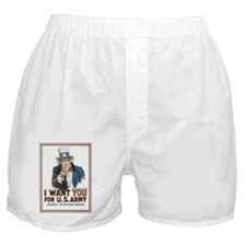 Cute Army uncle Boxer Shorts