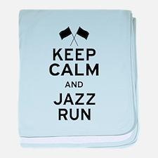 Keep Calm and Jazz Run baby blanket
