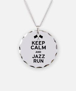 Keep Calm and Jazz Run Necklace