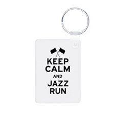 Keep Calm and Jazz Run Keychains