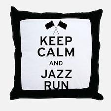 Keep Calm and Jazz Run Throw Pillow