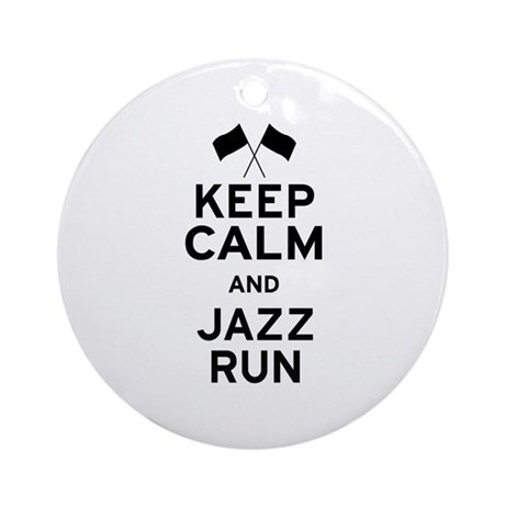 Keep Calm and Jazz Run Ornament (Round)