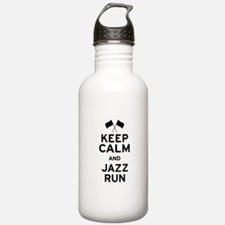 Keep Calm and Jazz Run Water Bottle