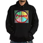 Abstract Peace Sign Hoodie (dark)