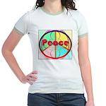 Abstract Peace Sign Jr. Ringer T-Shirt