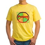 Abstract Peace Sign Yellow T-Shirt