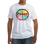 Abstract Peace Sign Fitted T-Shirt