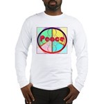 Abstract Peace Sign Long Sleeve T-Shirt