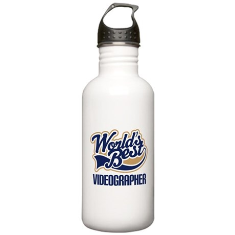 Videographer (Worlds Best) Stainless Water Bottle