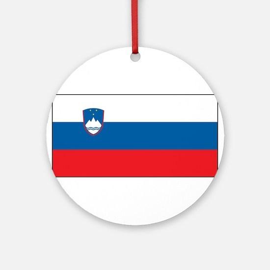 Slovenia - National Flag - Current Round Ornament