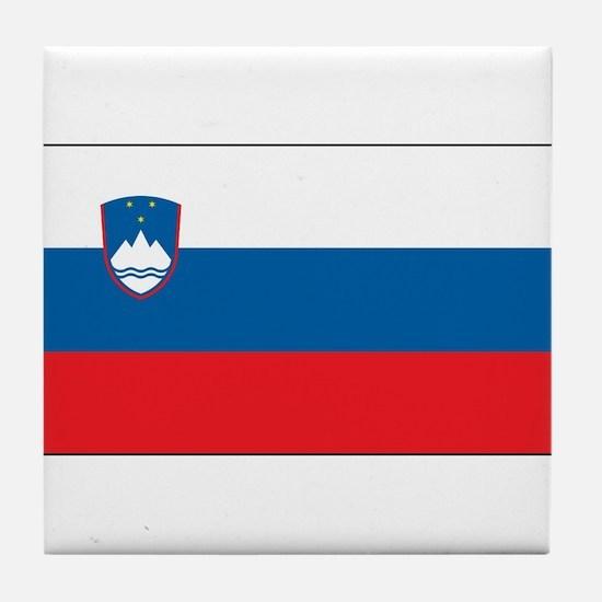 Slovenia - National Flag - Current Tile Coaster