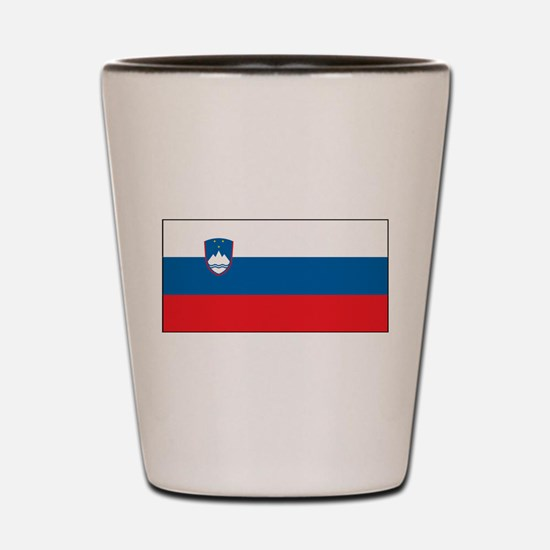 Slovenia - National Flag - Current Shot Glass