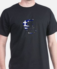 Greek Flag Map T-Shirt