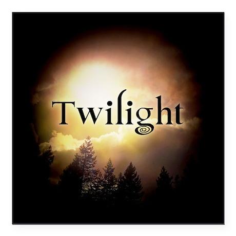 """Twilight Forks Square Car Magnet 3"""" x 3"""""""
