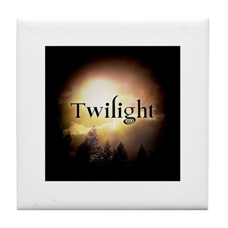 Twilight Forks Tile Coaster