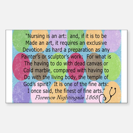 Florence Nightingale Quote Bag.PNG Decal