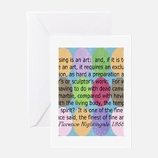 Florence Nightingale Quote Bag.PNG Greeting Card