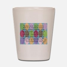 Florence Nightingale Quote Bag.PNG Shot Glass