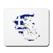 Greek Flag Map Mousepad