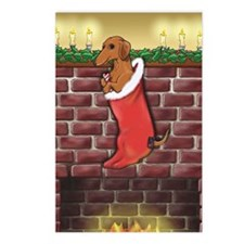 Dachshund Stocking Postcards (Package of 8)
