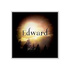 "Edward Twilight Forks Square Sticker 3"" x 3"""