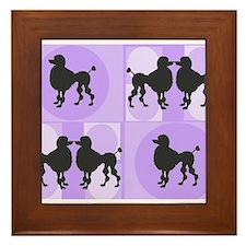Retro poodle bag purple.PNG Framed Tile