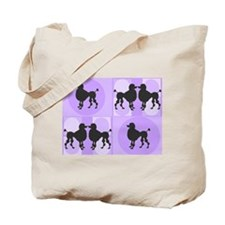 Retro poodle bag purple.PNG Tote Bag