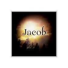 "Jacob Twilight Forks Square Sticker 3"" x 3"""