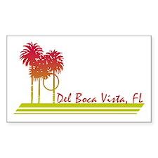 Del Boca Vista Rectangle Decal