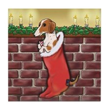 Piebald Christmas Tile Coaster