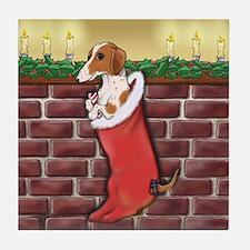 Piebald Christmas Tile Coaster