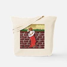 Piebald Christmas Tote Bag