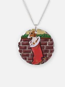 Piebald Christmas Necklace
