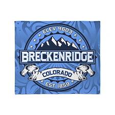 Breckenridge Blue Throw Blanket