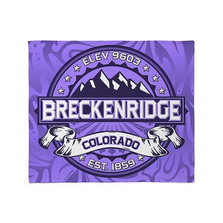 Breckenridge Purple Throw Blanket