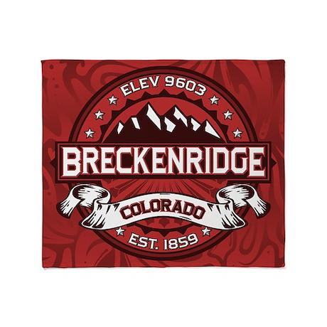 Breckenridge Red Throw Blanket