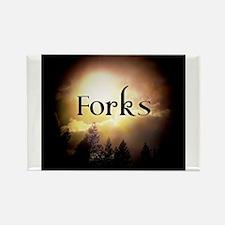 Twilight Forks Rectangle Magnet