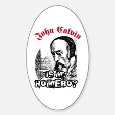 Calvin Oval Decal