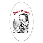 Calvin Oval Sticker