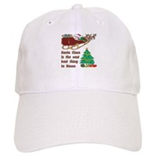 Santa claus and nonno{blk}.png Baseball Cap