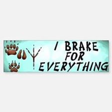 Brake for Everything Bumper Car Car Sticker
