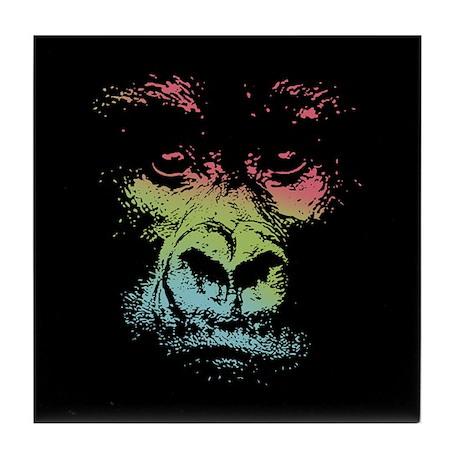 Color Gorilla Tile Coaster