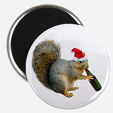 Santa Squirrel Beer Magnet