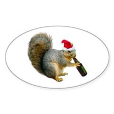 Santa Squirrel Beer Decal