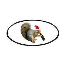 Santa Squirrel Beer Patches