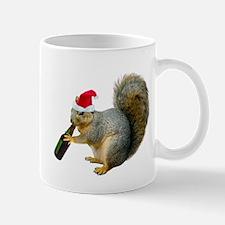 Santa Squirrel Beer Mug