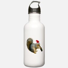 Santa Squirrel Beer Water Bottle