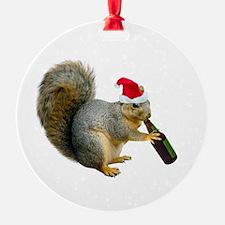 Santa Squirrel Beer Ornament